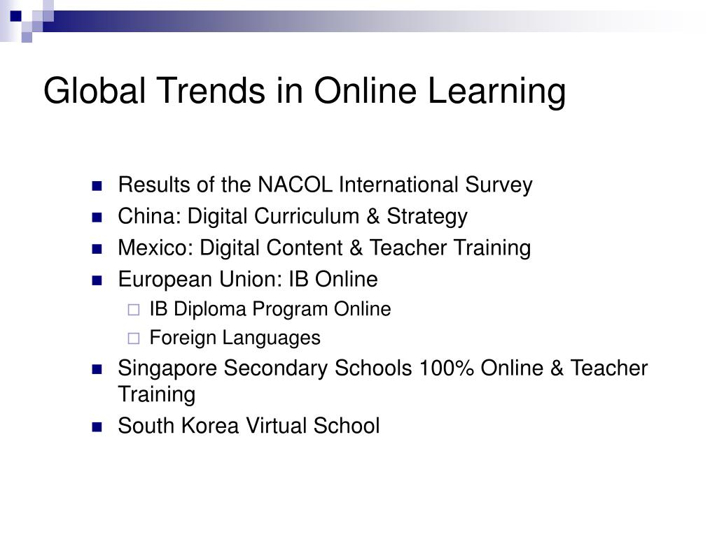 Global Trends in Online Learning