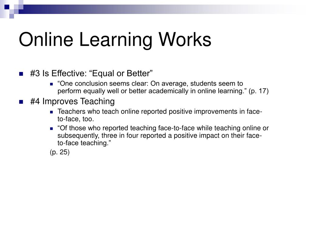 Online Learning Works