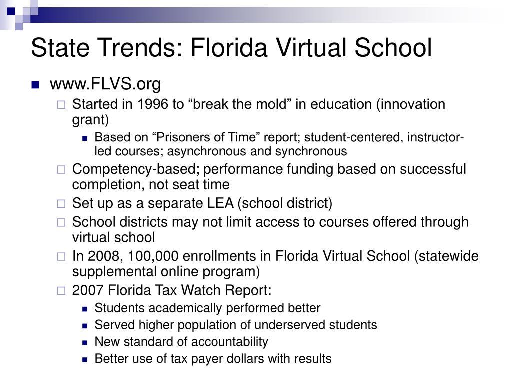 State Trends: Florida Virtual School