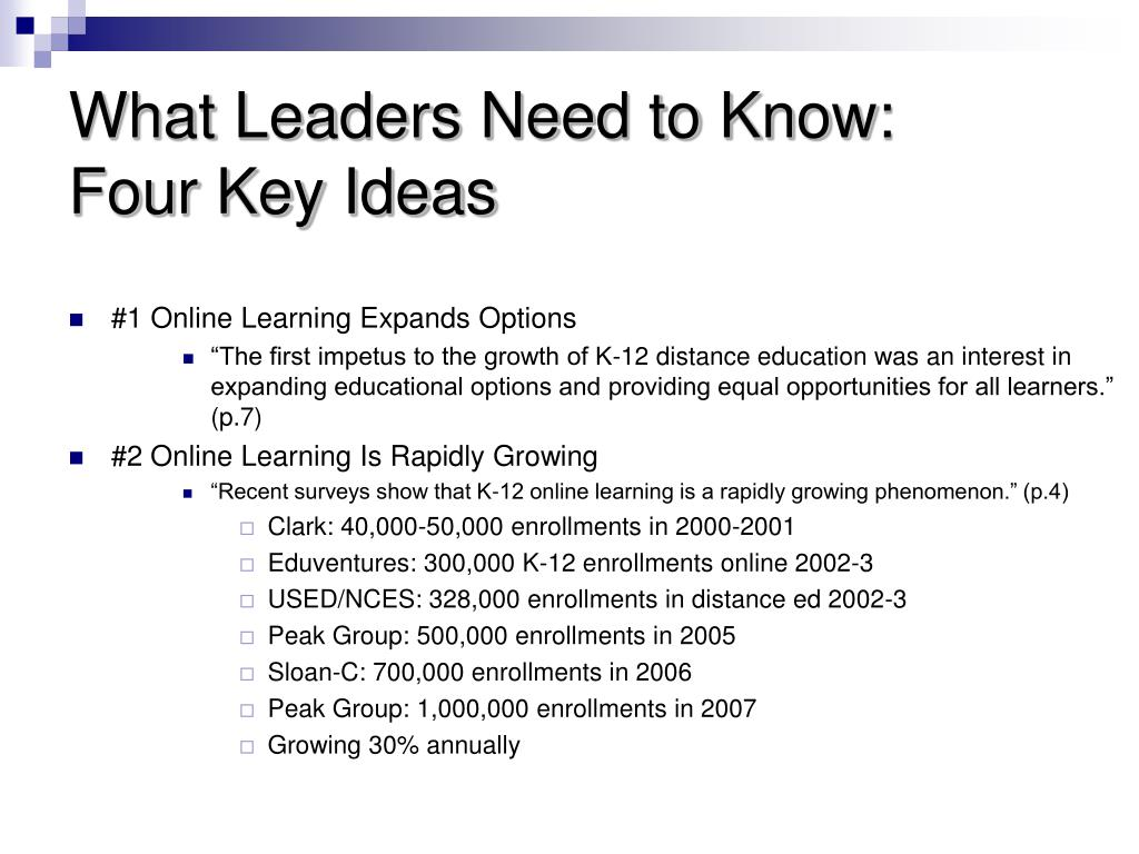 What Leaders Need to Know: