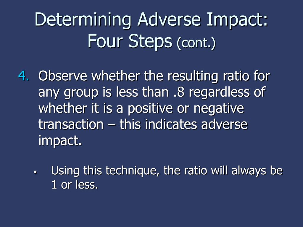 Determining Adverse Impact: