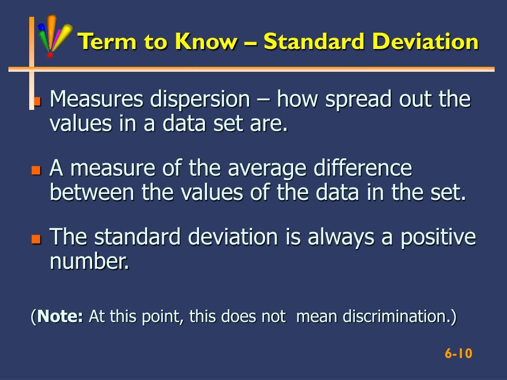 Term to Know – Standard Deviation