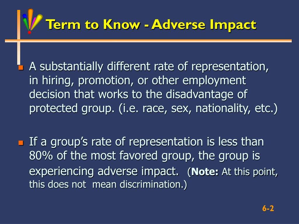 Term to Know - Adverse Impact
