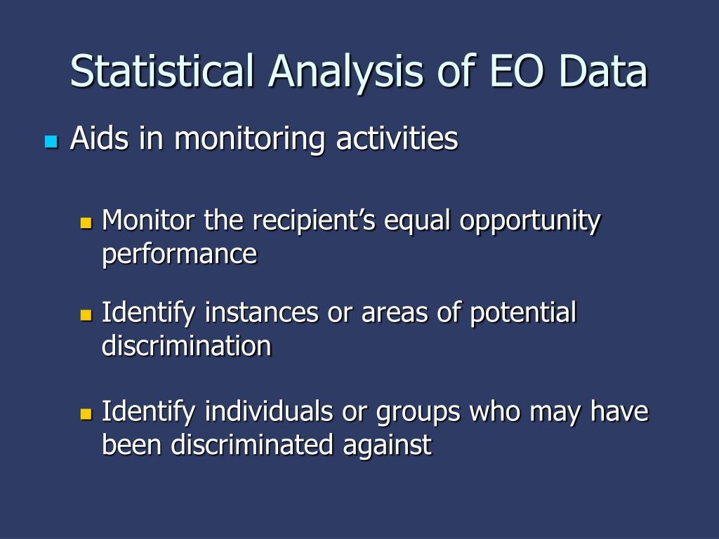 Statistical Analysis of EO Data