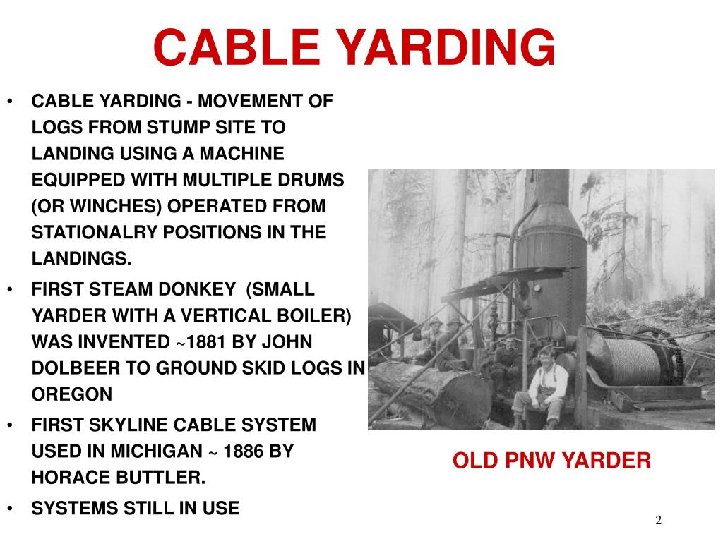 CABLE YARDING