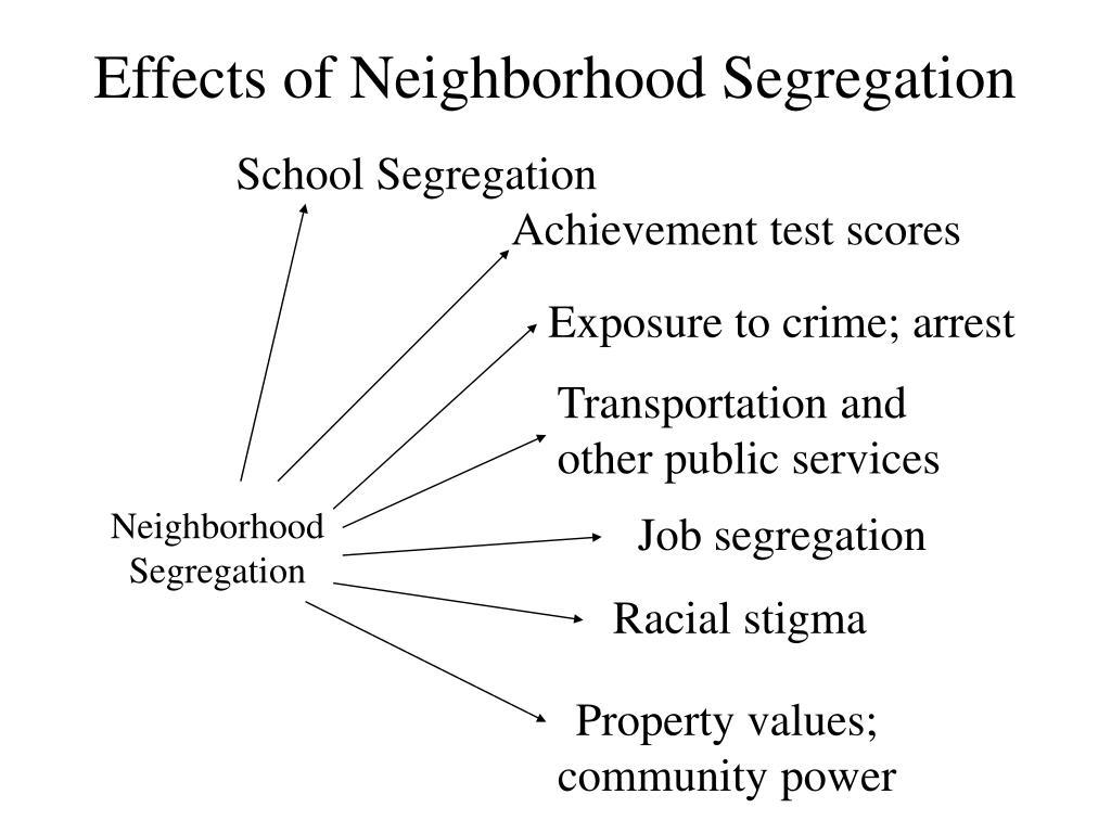 Effects of Neighborhood Segregation