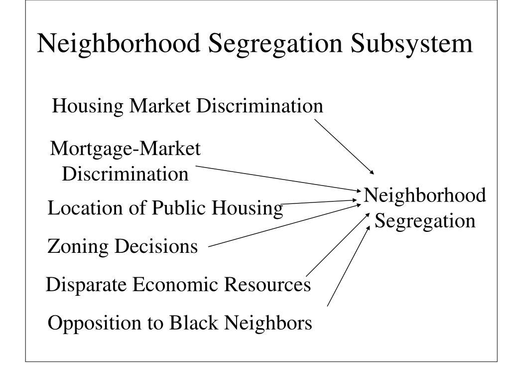 Neighborhood Segregation Subsystem