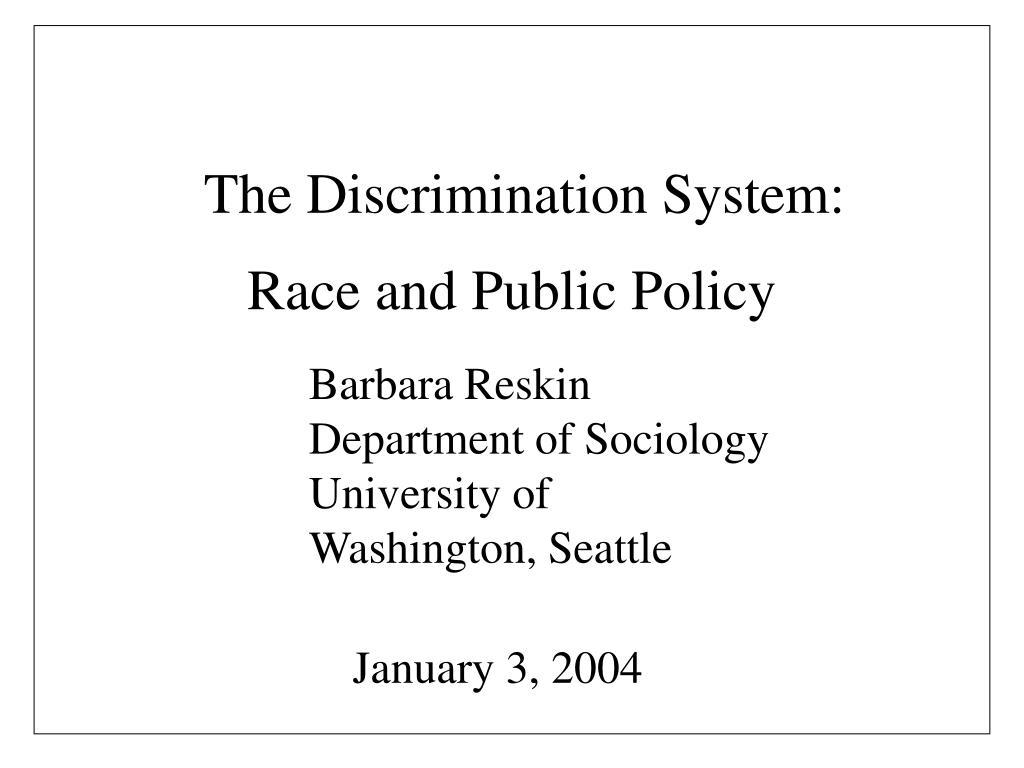 The Discrimination System: