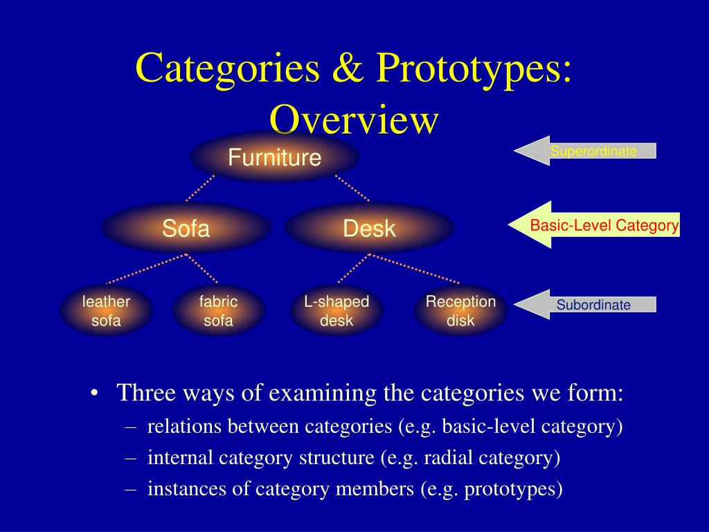 Categories & Prototypes: Overview