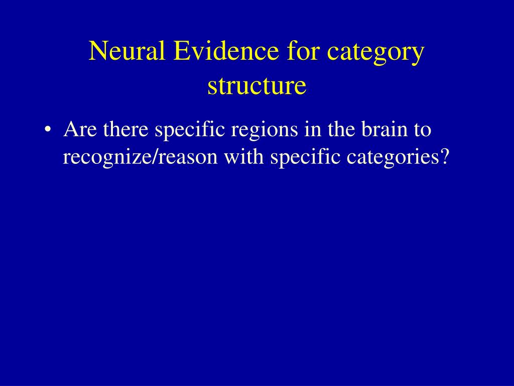 Neural Evidence for category structure