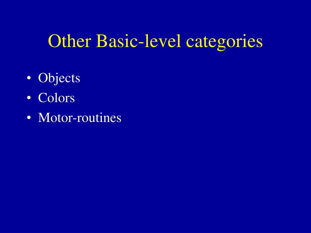 Other Basic-level categories