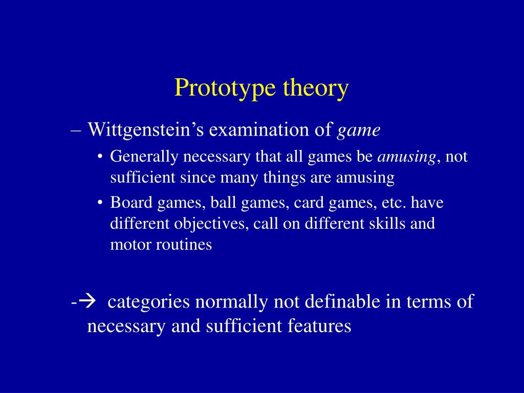 Prototype theory