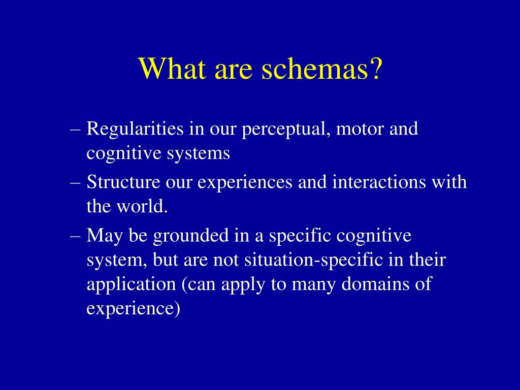 What are schemas?