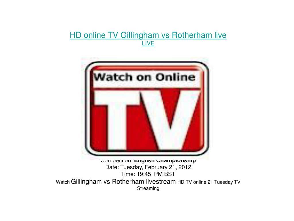 HD online TV Gillingham vs Rotherham live