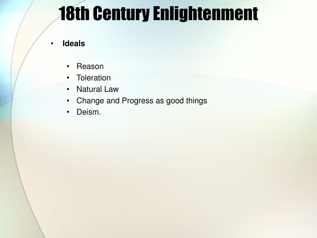 18th Century Enlightenment