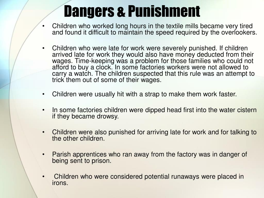 Dangers & Punishment