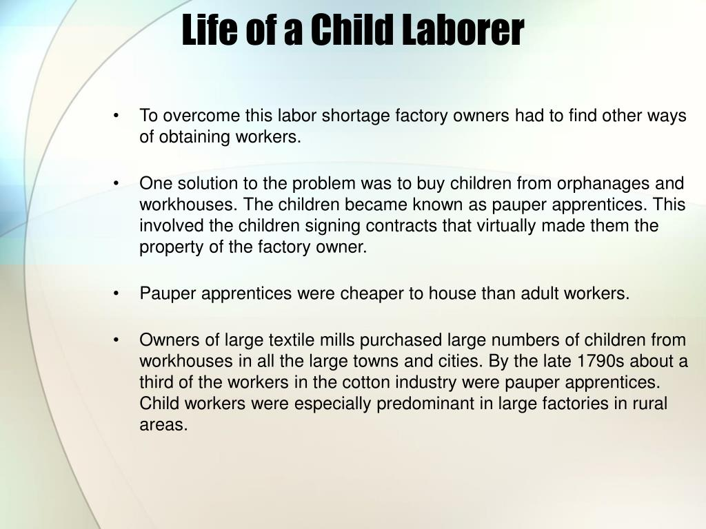 Life of a Child Laborer