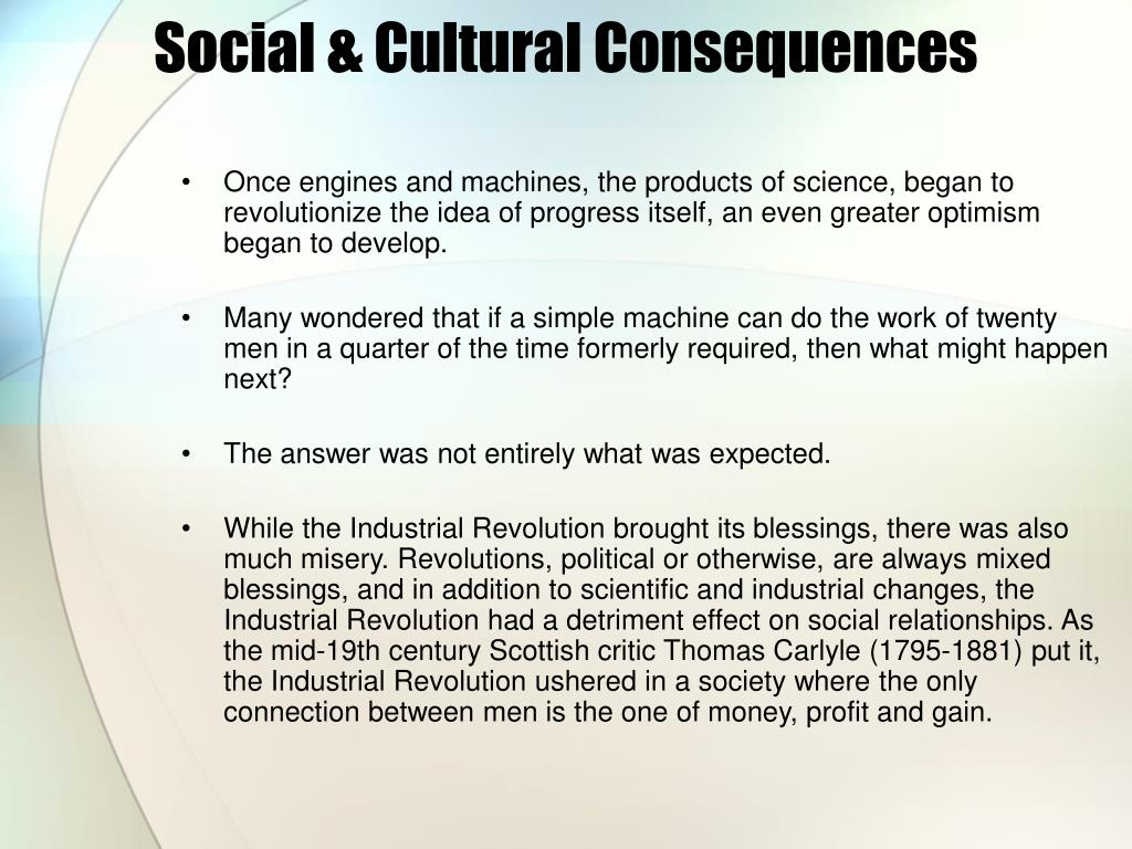 Social & Cultural Consequences