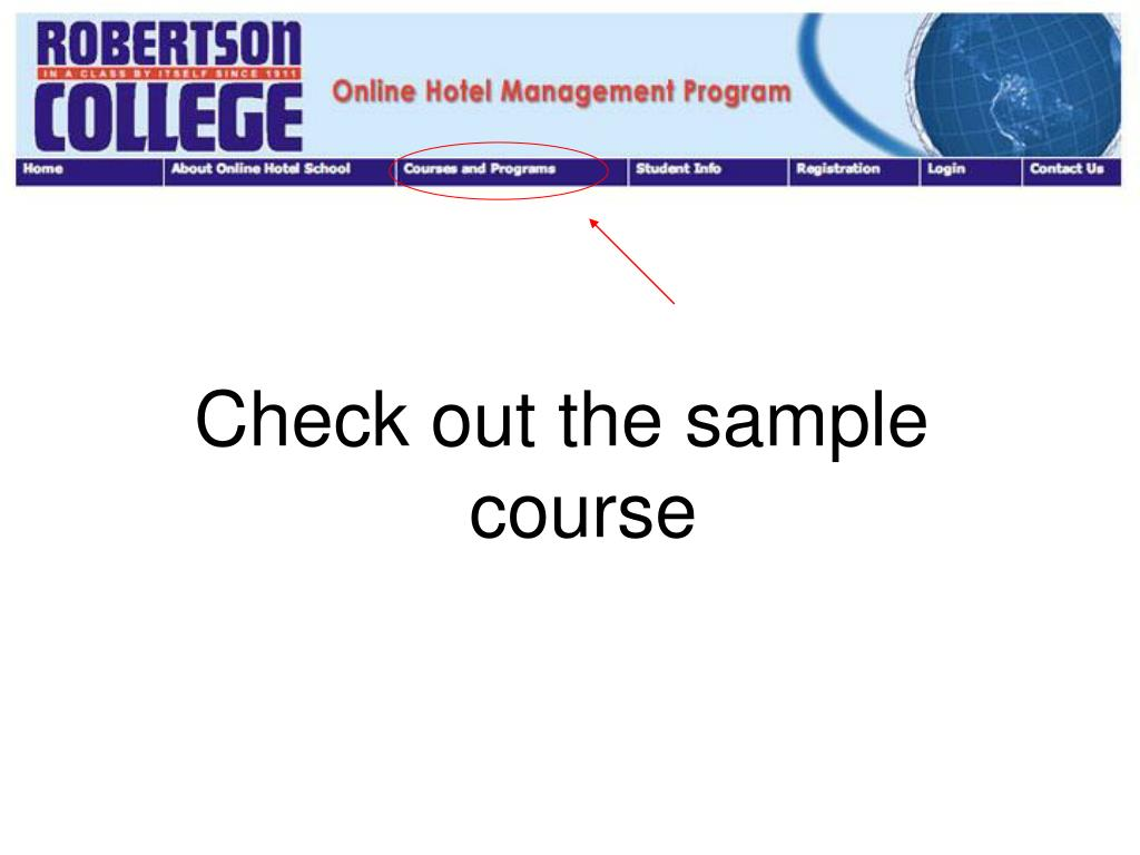 Check out the sample course