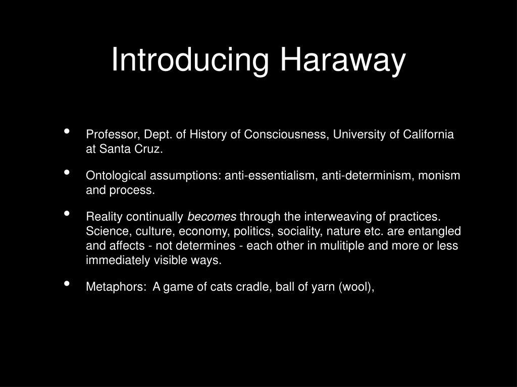 Introducing Haraway
