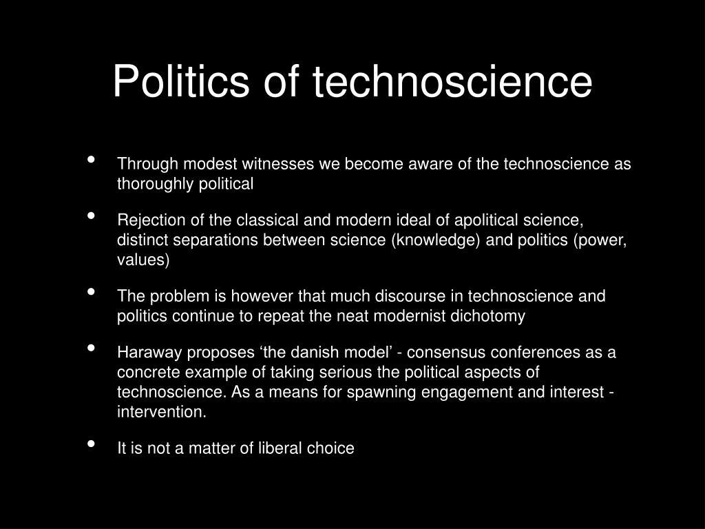 Politics of technoscience