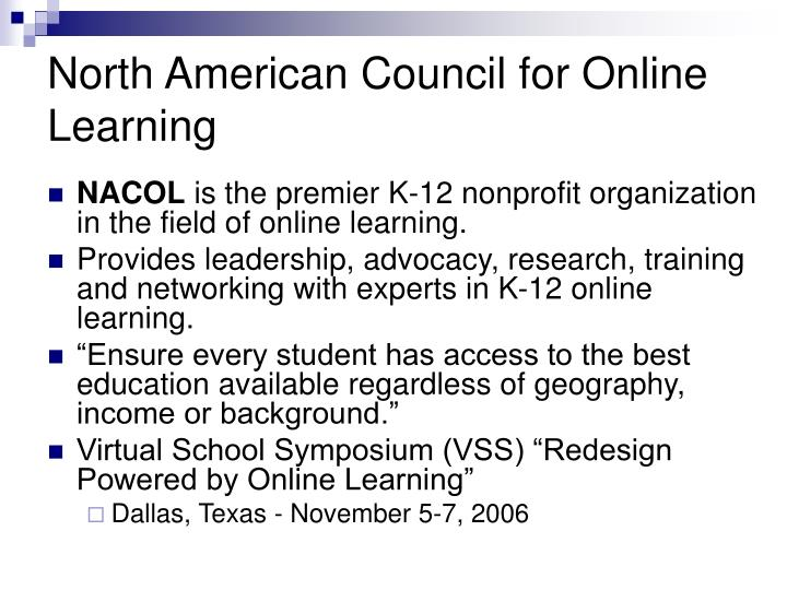 North american council for online learning