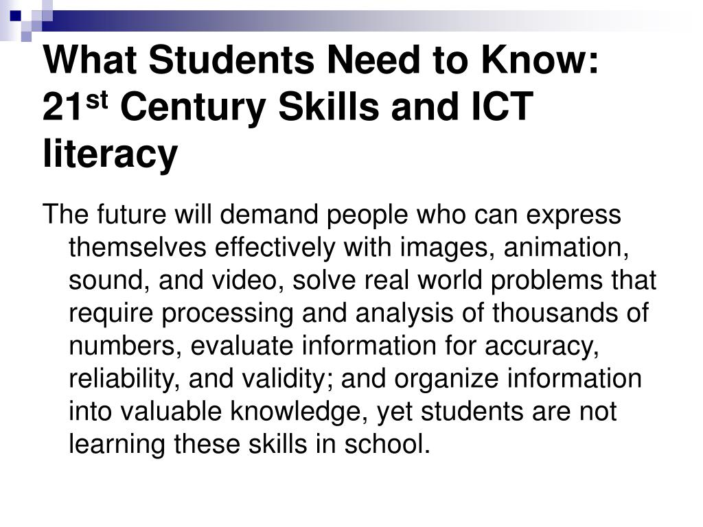 What Students Need to Know: