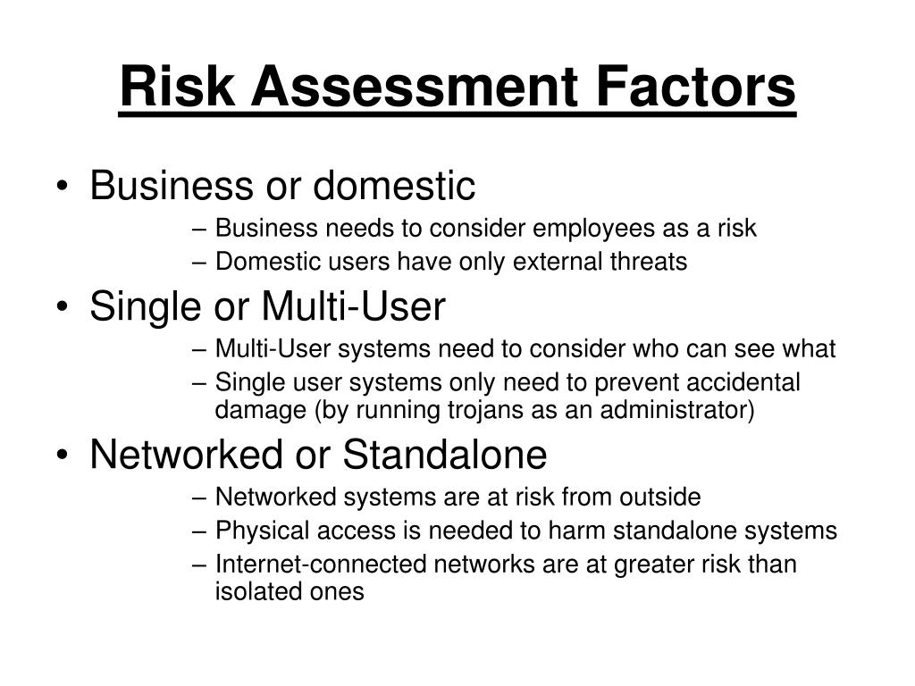 Risk Assessment Factors