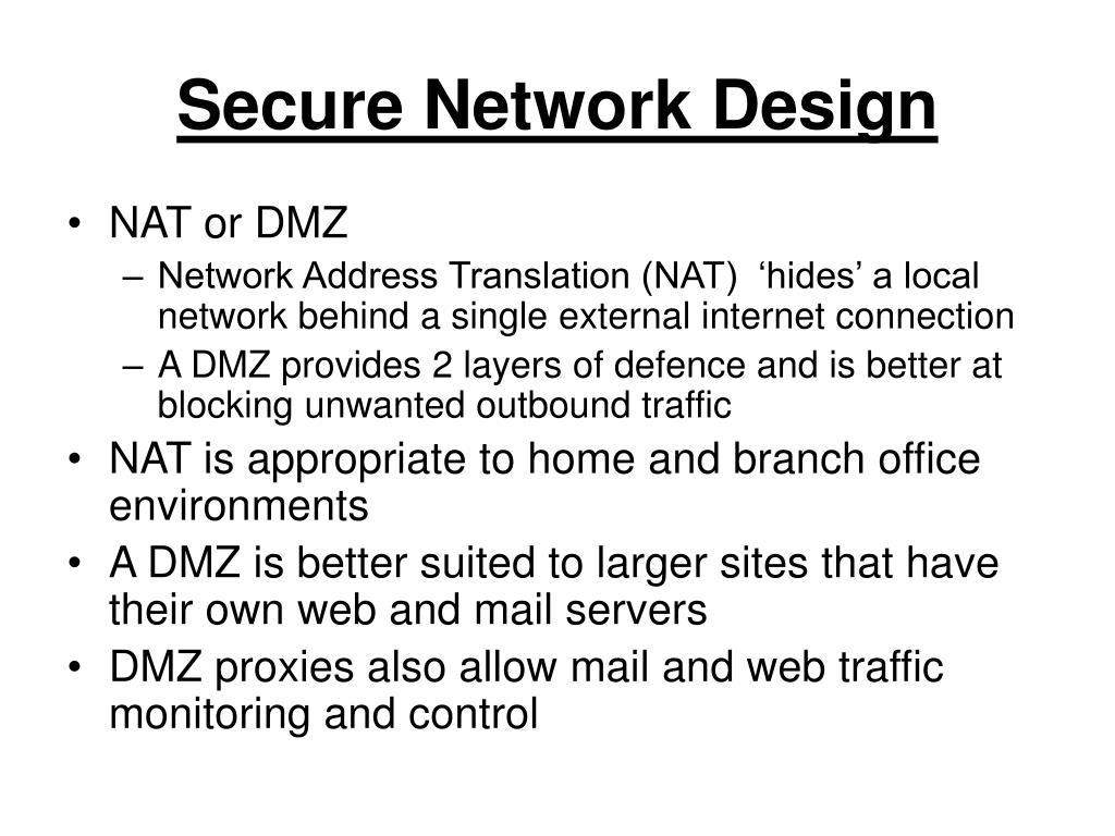 Secure Network Design