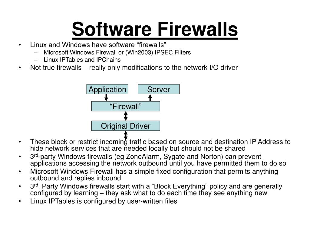 Software Firewalls