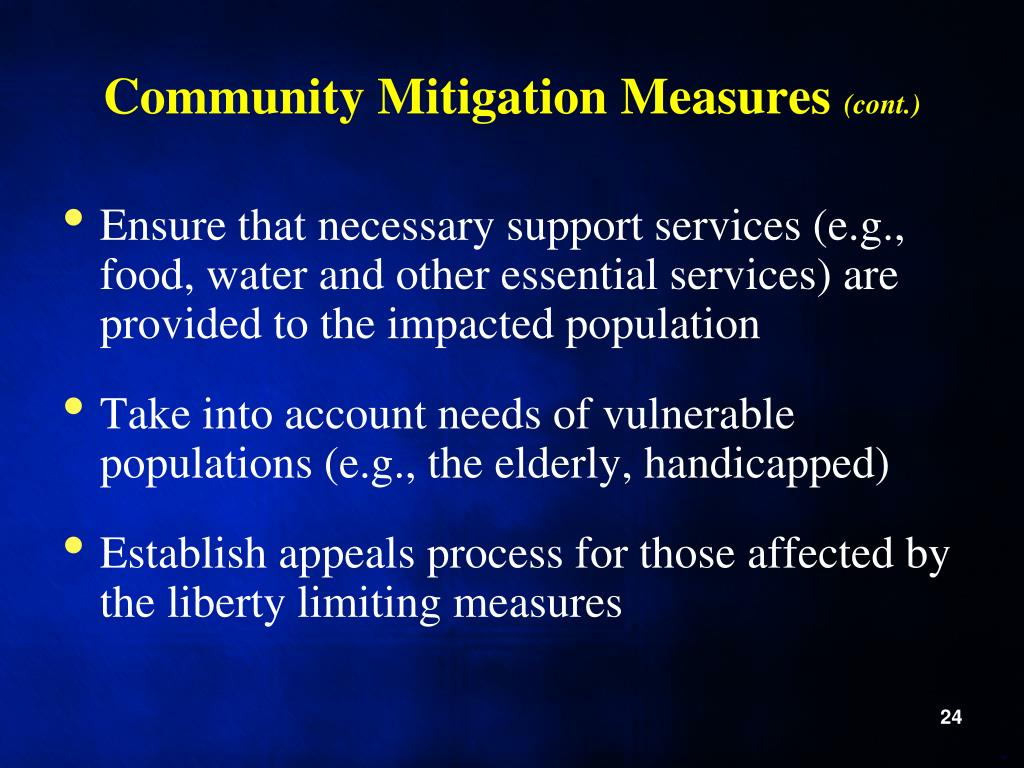 Community Mitigation Measures