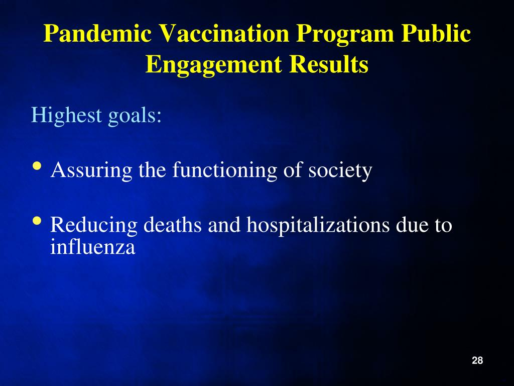 Pandemic Vaccination Program Public Engagement Results