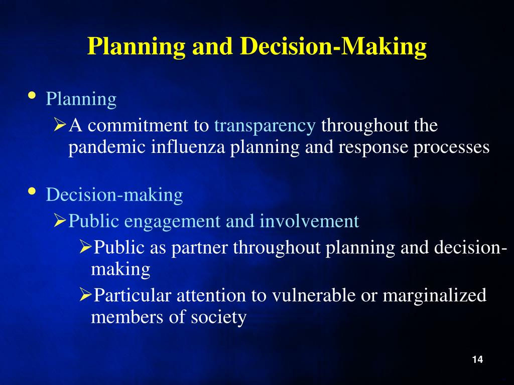 Planning and Decision-Making