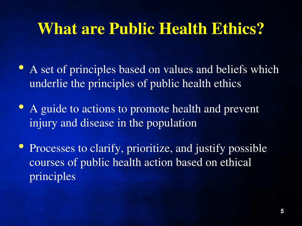 What are Public Health Ethics?