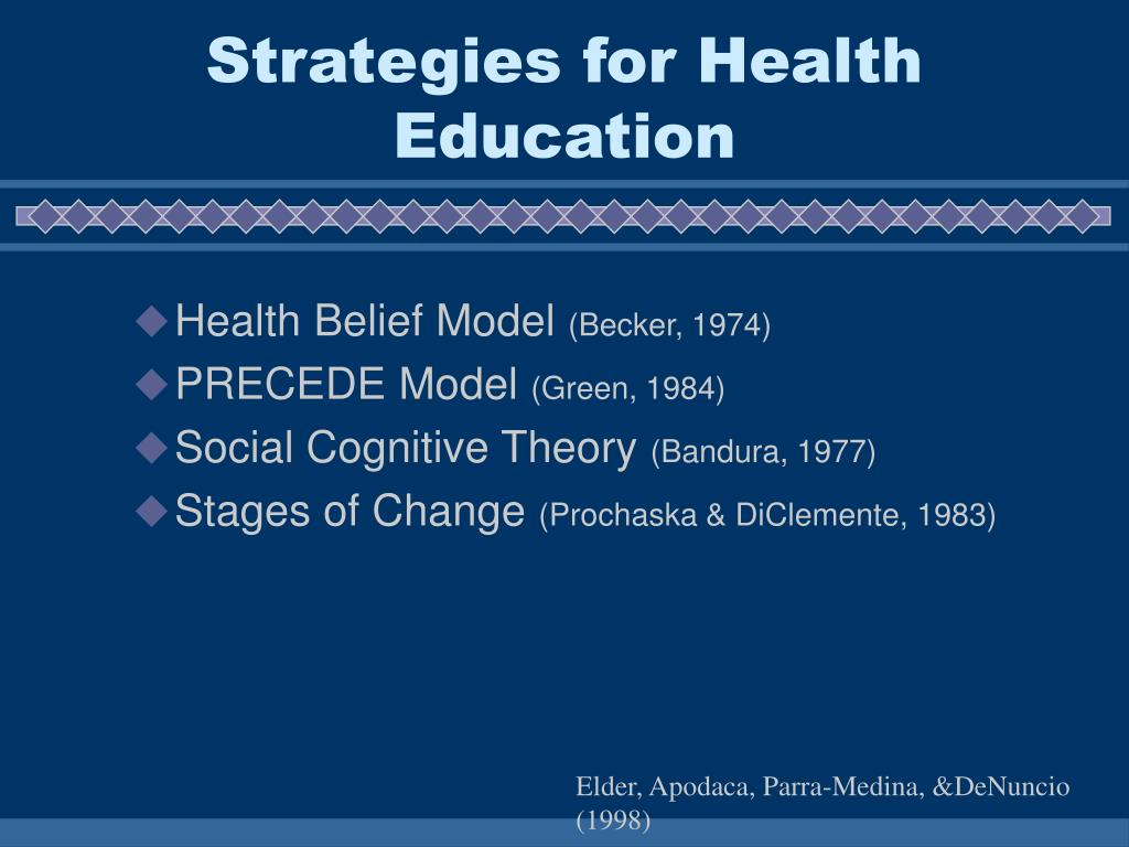 Strategies for Health Education