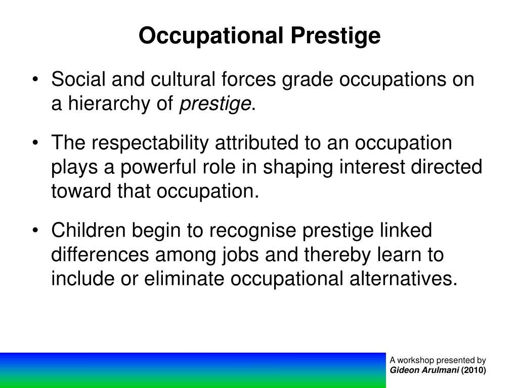 Occupational Prestige
