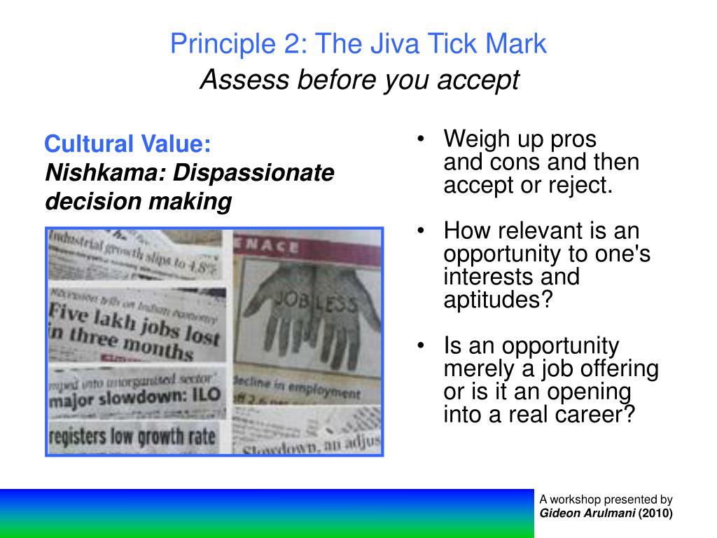 Principle 2: The Jiva Tick Mark