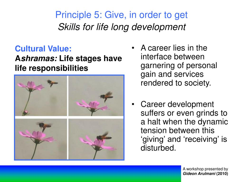 Principle 5: Give, in order to get