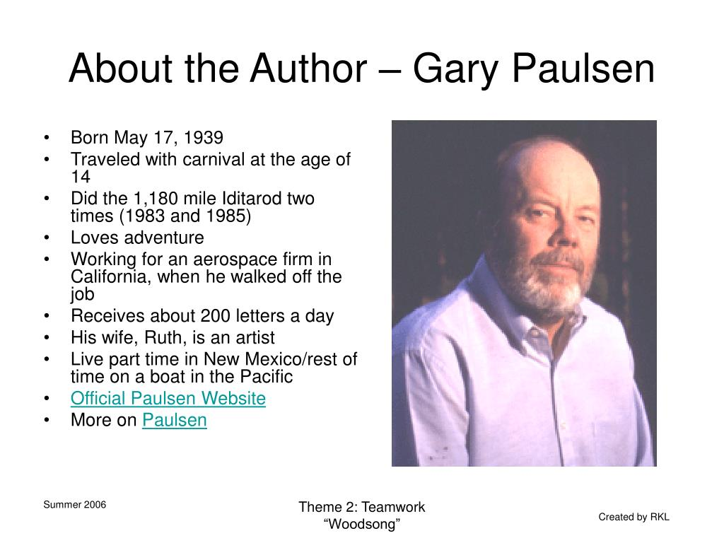About the Author – Gary Paulsen