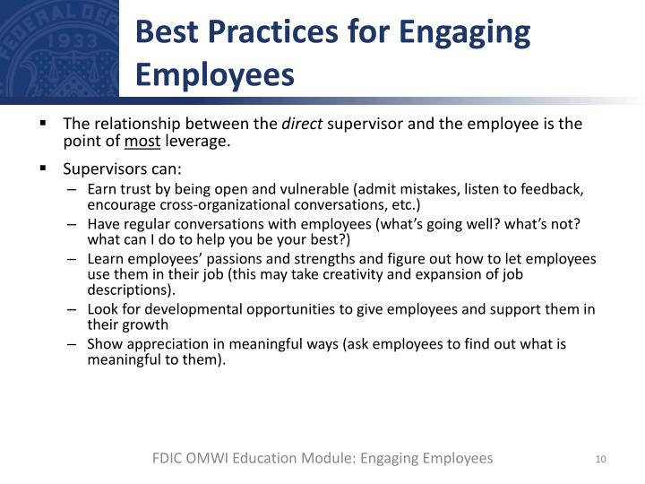 Best Practices for Engaging Employees