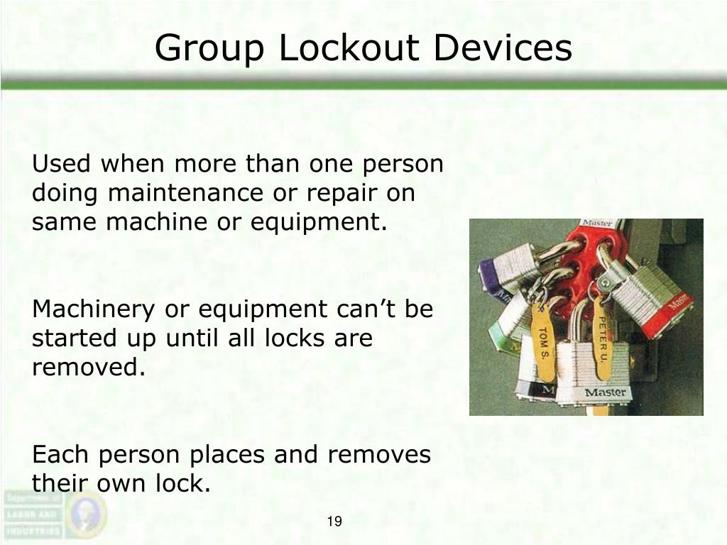 Group Lockout Devices
