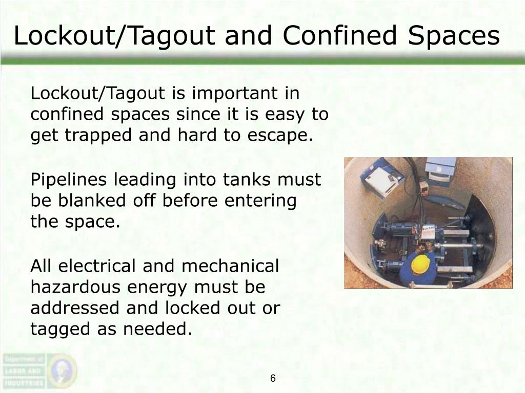 Lockout/Tagout and Confined Spaces