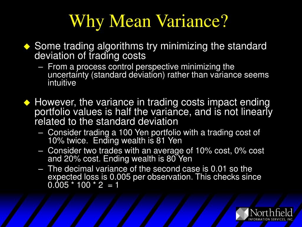 Why Mean Variance?