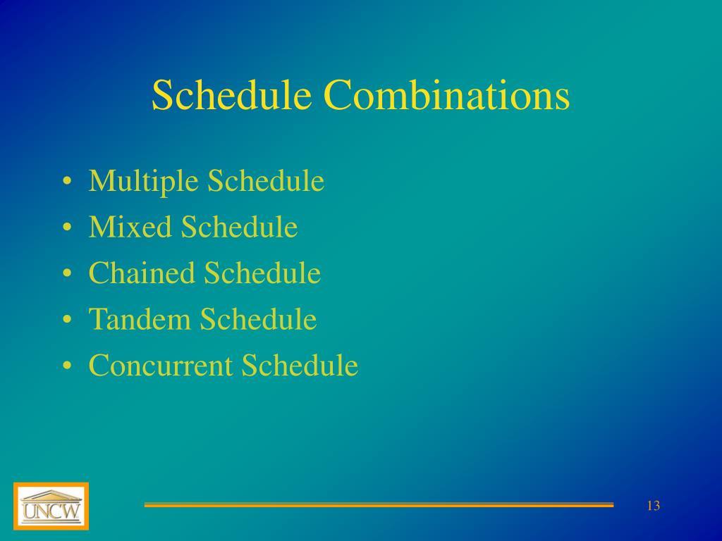 Schedule Combinations