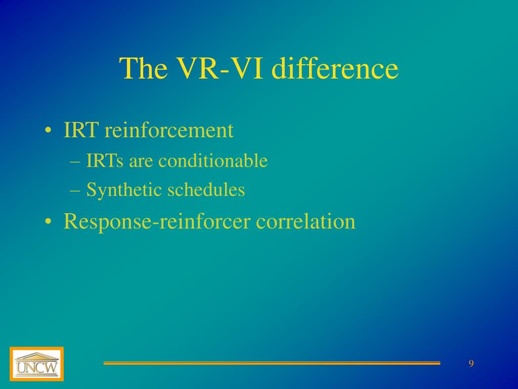The VR-VI difference