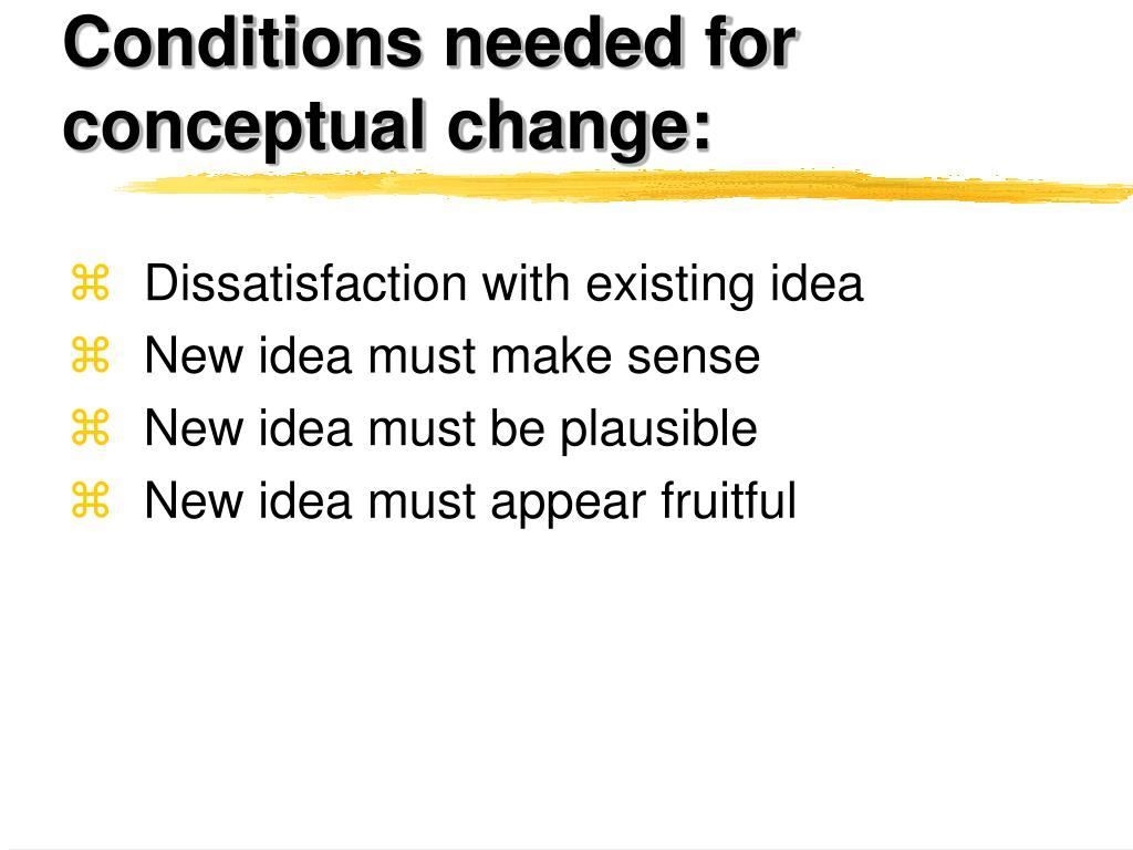 Conditions needed for conceptual change:
