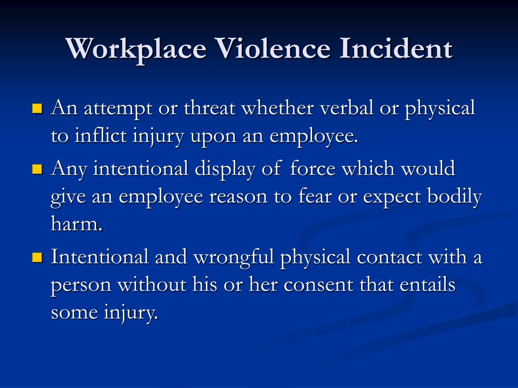 Workplace Violence Incident