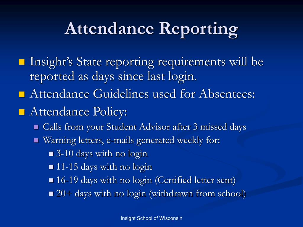 Attendance Reporting