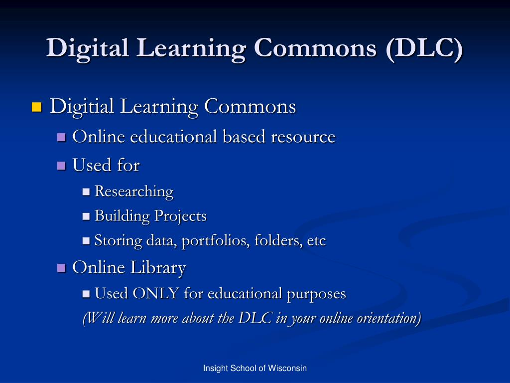 Digital Learning Commons (DLC)