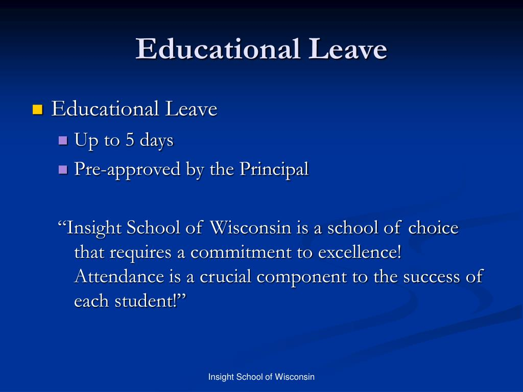 Educational Leave